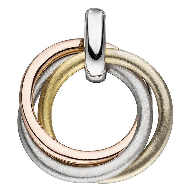 Kettinghanger van 925 sterling zilver in drie kleuren