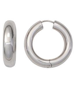 JOBO Creole hoop earrings sterling silver 925