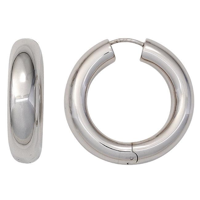 Aurora Patina Creole hoop earrings sterling silver 925