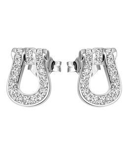 JOBO Zilveren oorstekers met zirkonia