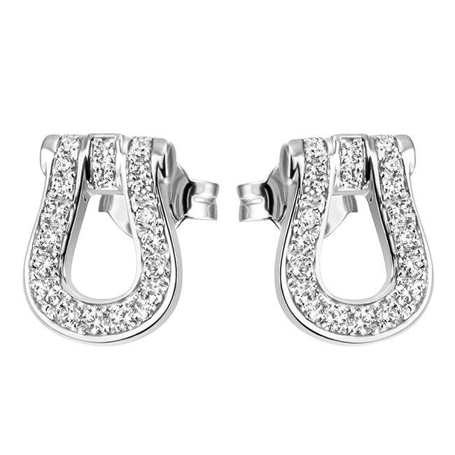 Zilveren oorstekers (925) met zirkonia