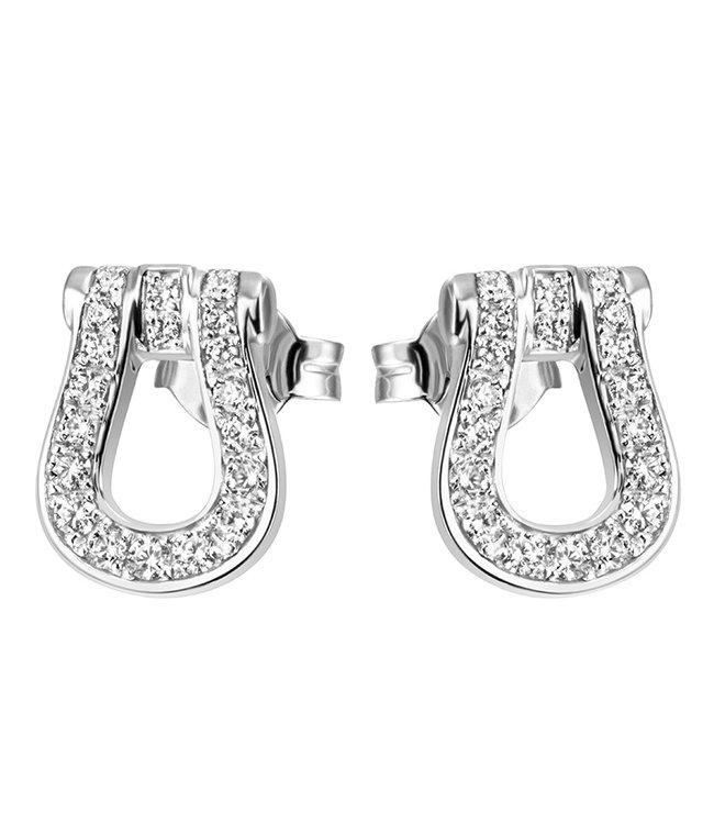 JOBO Zilveren oorstekers (925) met zirkonia