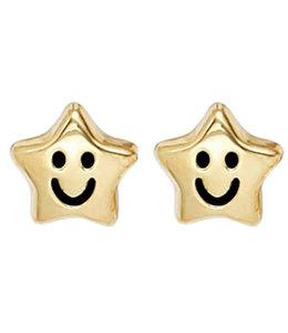 JOBO Kids earring studs  Smiley Stars Gold