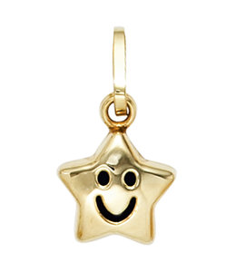Aurora Patina Kettinghanger voor kids Smiley Star goud