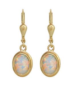 Aurora Patina Golden earrings opal