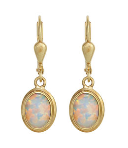 JOBO Gouden oorbellen opaal