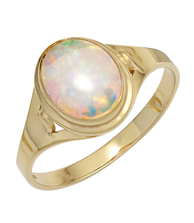 JOBO Golden ring (333) with synthetic opal