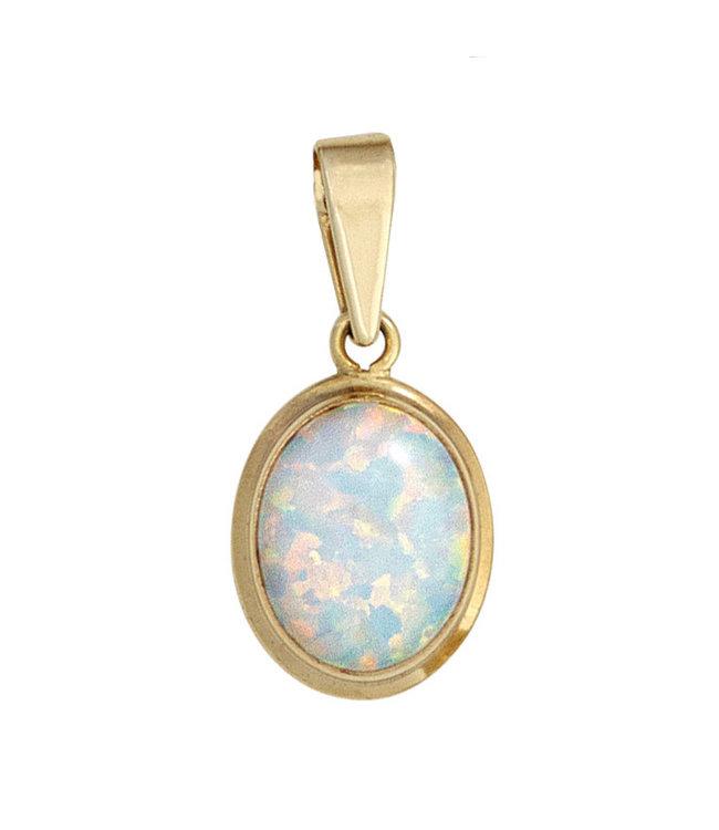 JOBO Gouden kettinghanger (333) met synthetische opaal
