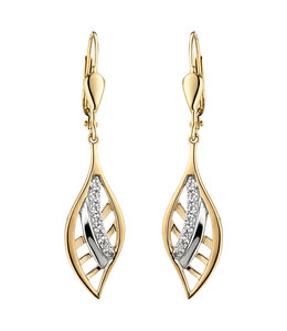 JOBO Golden earrings with zirconia