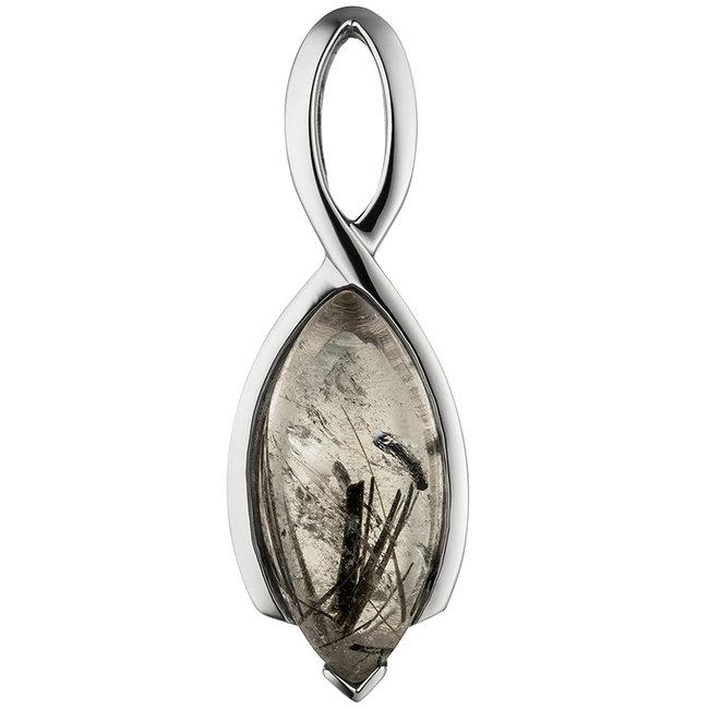 Sterling zilveren hanger met Toermalijn kwarts