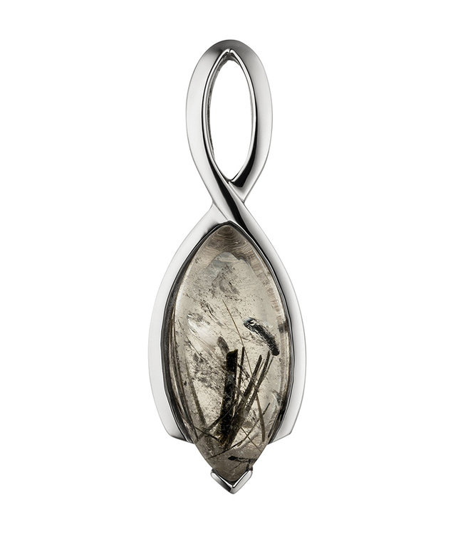 JOBO Sterling zilveren hanger met Toermalijn kwarts