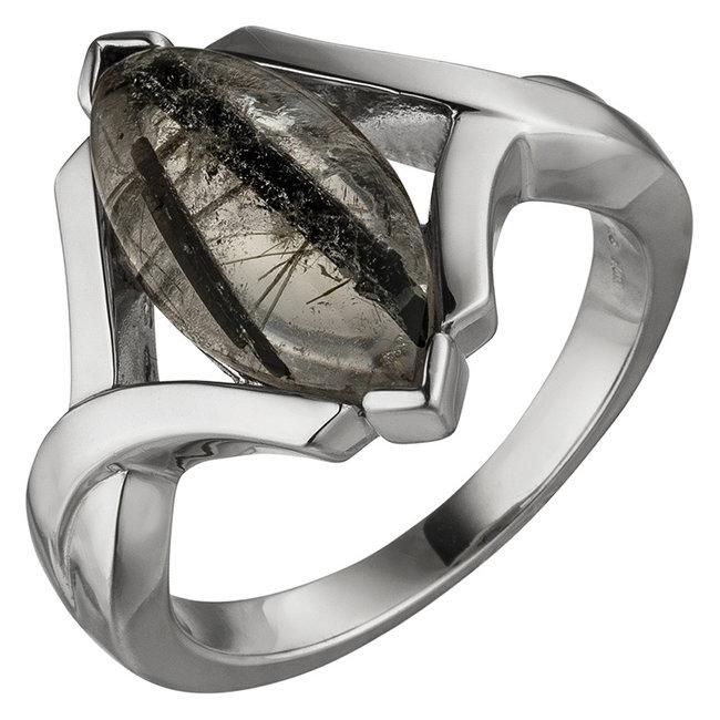 Sterling ring pendant with Tourmaline Quartz