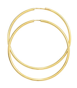 Aurora Patina Große Creolen 14 kt Gold