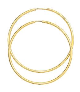 JOBO Large earrings creoles 14 ct Gold