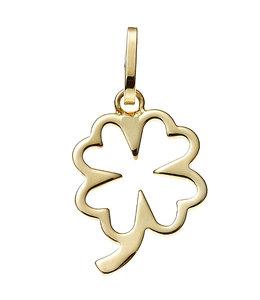 Aurora Patina Gold pendant four-leaf clover