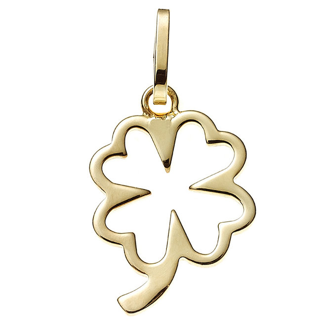 Aurora Patina Gold pendant four-leaf clover