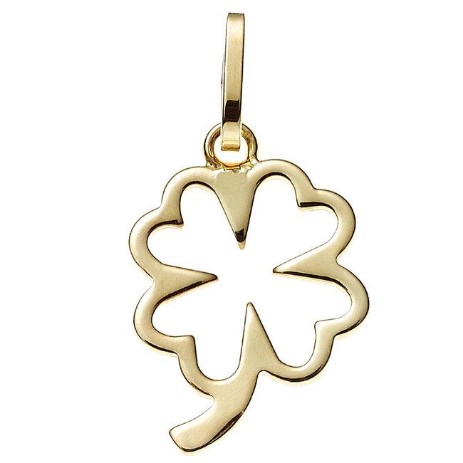 Gold pendant four-leaf clover lucky charm