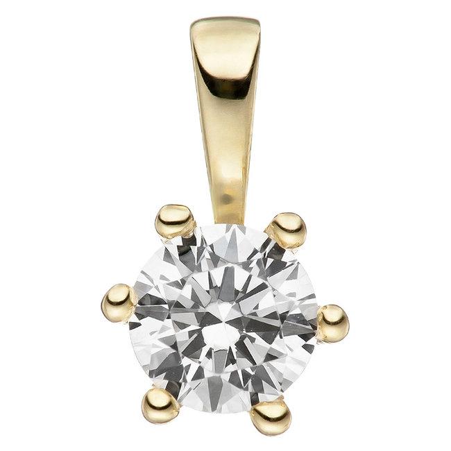 Gold pendant (333) with zirconia