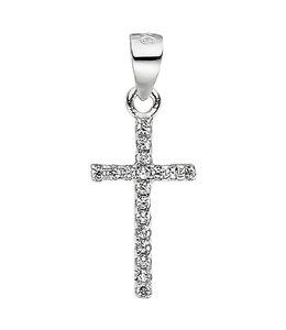 JOBO Kettinghanger kruis zirkonia 925 zilver
