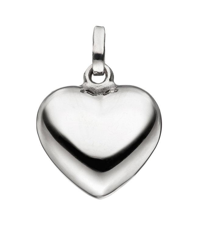 Aurora Patina Zilveren hanger hart