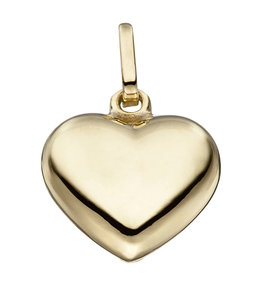 JOBO Silver pendant heart gold plated