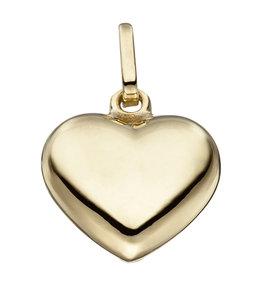 JOBO Zilveren hanger hart verguld