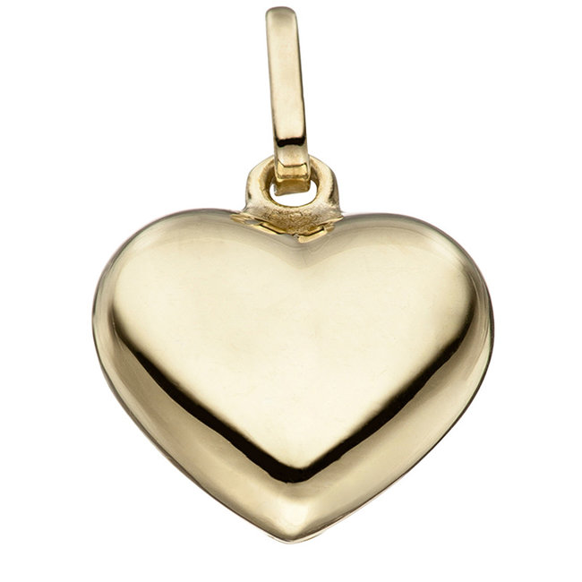 Zilveren hanger hart verguld