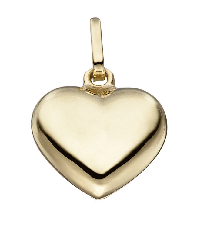 Aurora Patina Silver pendant heart gold plated