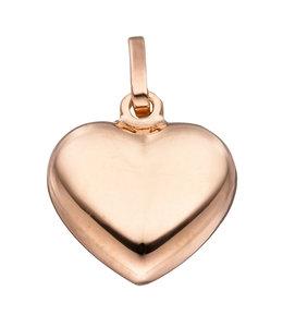 JOBO Zilveren hanger hart verguld met rood goud