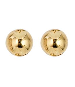 Aurora Patina Gouden oorstekers 5 mm 8 karaat