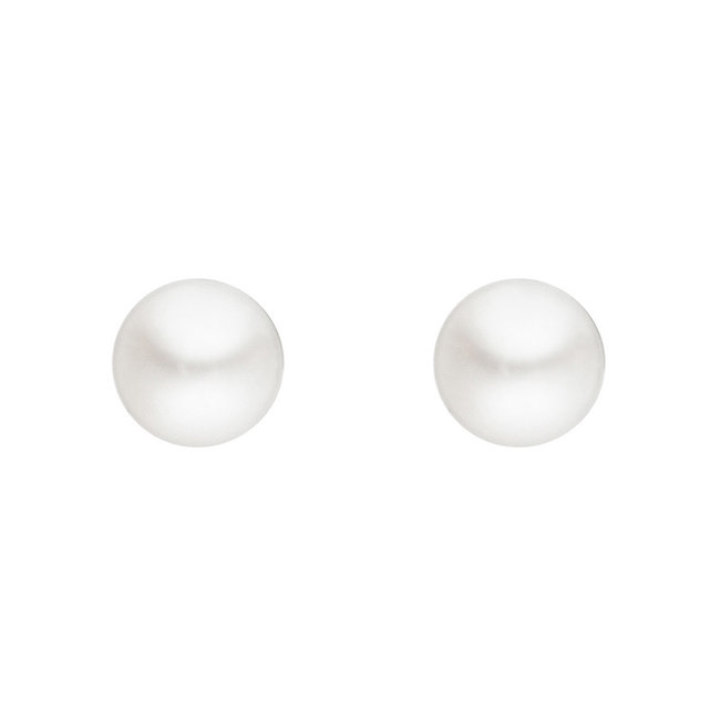 Aurora Patina Silver earstuds with freshwater pearls 3 mm