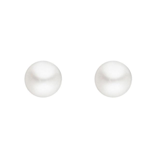 Aurora Patina Zilveren oorknopjes met zoetwaterparels 3 mm