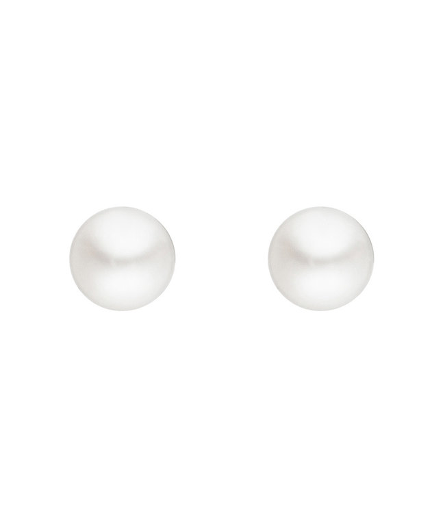 JOBO Silver earstuds with freshwater pearls 3 - 3.5 mm