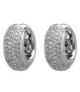 JOBO Earrings creoles silver with 146 zirconias