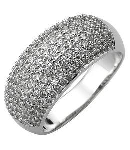 JOBO Zilveren ring met 158 zirkonia's