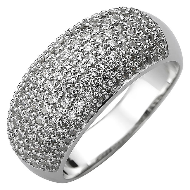 Ring in 925 sterling silver with 158 zirconias