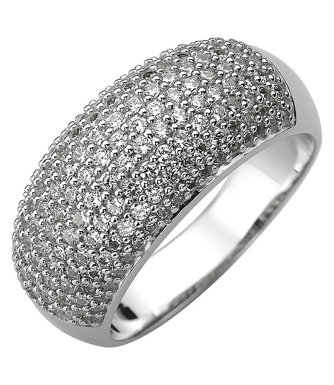 JOBO Ring in 925 sterling silver with 158 zirconias