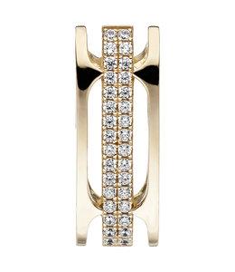 Aurora Patina Gold plated pendant with 32 zirconias