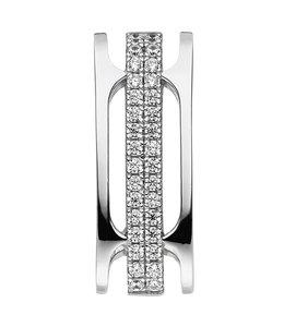 Aurora Patina Silver pendant with 32 zirconias