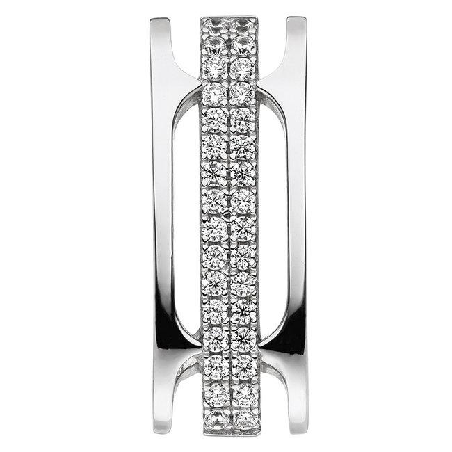 Silver pendant with 32 zirconias