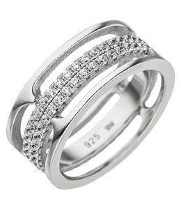 JOBO Sterling zilveren ring met 88 zirkonia's