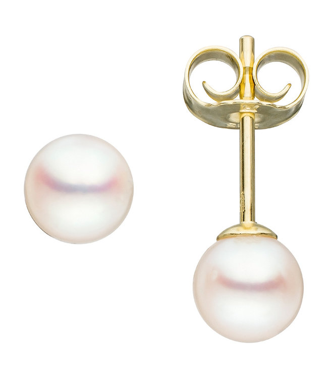 JOBO Pearl earstuds 14 kt. gold(585)  with Akoya pearls 5 - 5,5 mm