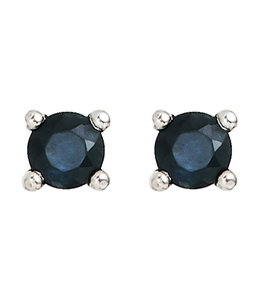 JOBO Silver earstuds blue sapphire
