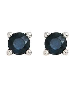 JOBO Zilveren oorstekers blauwe saffier