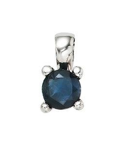 JOBO Zilveren hanger blauwe saffier
