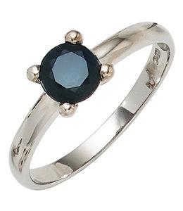 JOBO Zilveren ring blauwe saffier