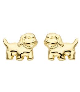 Aurora Patina Gouden oorknopjes puppies