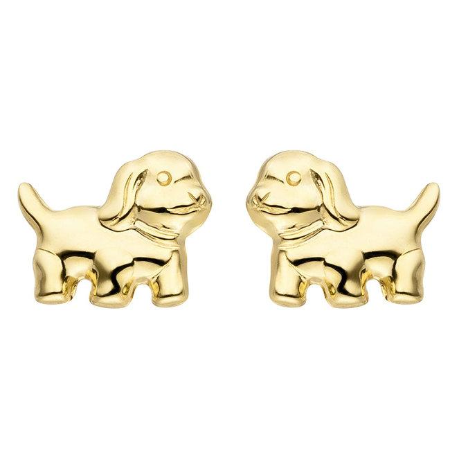 Aurora Patina Golden earstuds Puppy
