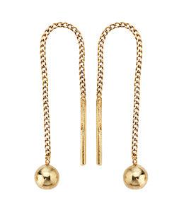 Aurora Patina Golden threaded earrings