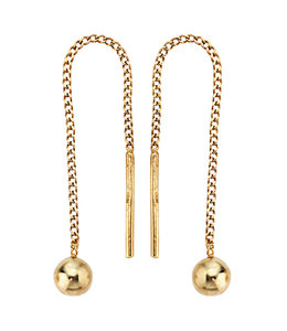 JOBO Golden threaded earrings
